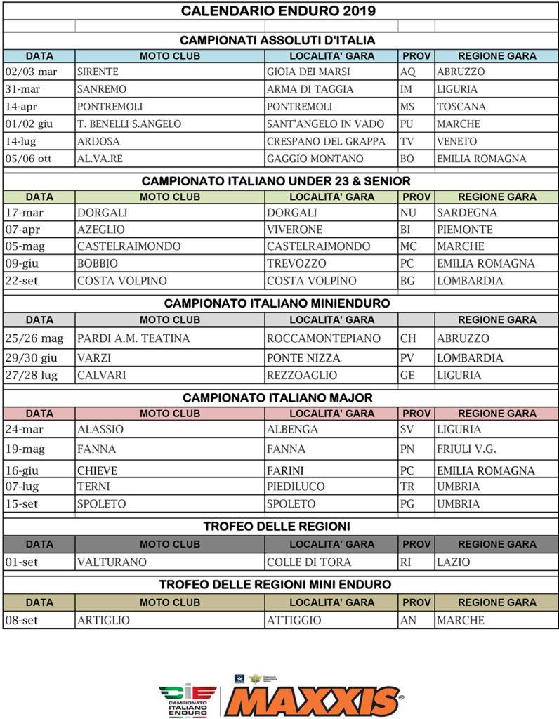 Calendario Italiano Enduro 2019   XInsideMagazine